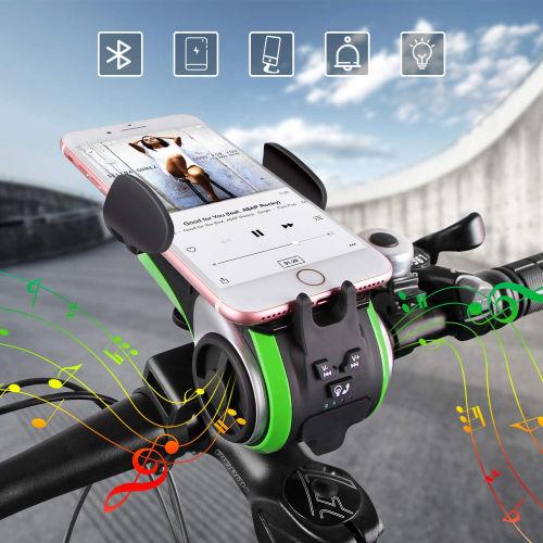 Altavoz Bluetooth Soporte movil Bateria externa Luz Timbre para bicicleta Uppel