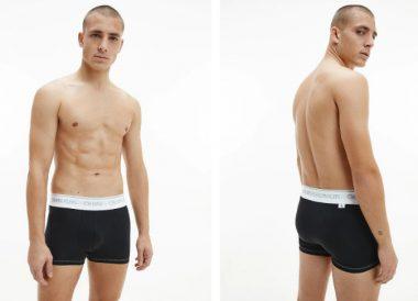 Boxer de punto de hombre negro Calvin Klein