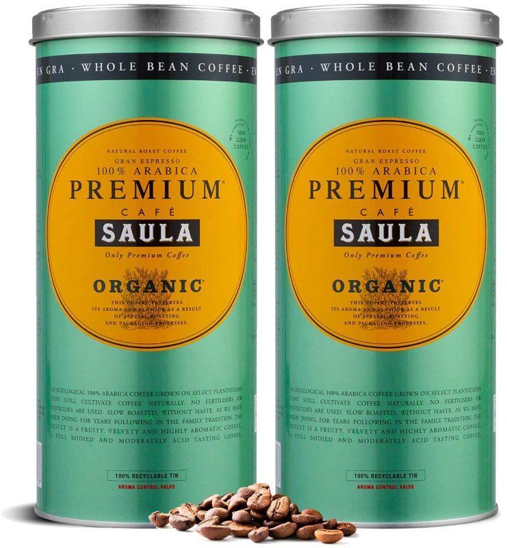 Cafe Saula grano Premium Ecologico 100 arabica