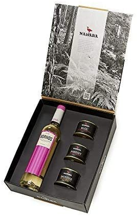 Caja gourmet Malvasia Sauvignon Lote de Tres Foies 130 g y vino Sauvignon Blanc semidulce 50 cl