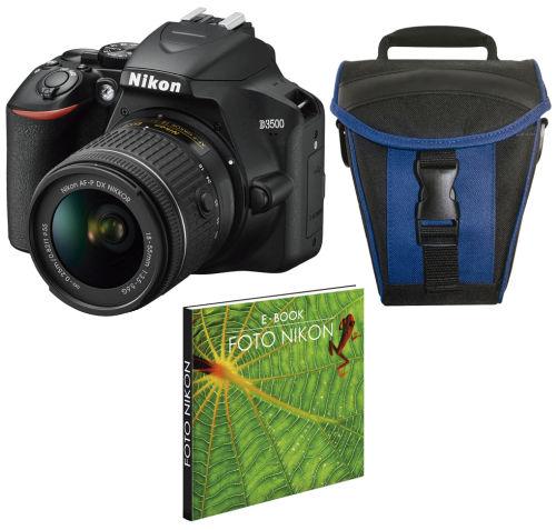 Camara reflex Nikon D3500 con Objetivo AF P DX 18 55 mm Kit