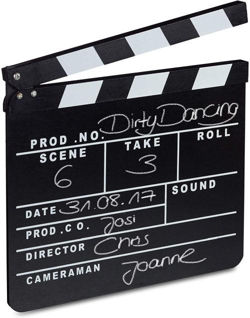 Claqueta de cine para escribir Relaxdays 26 x 30 cm