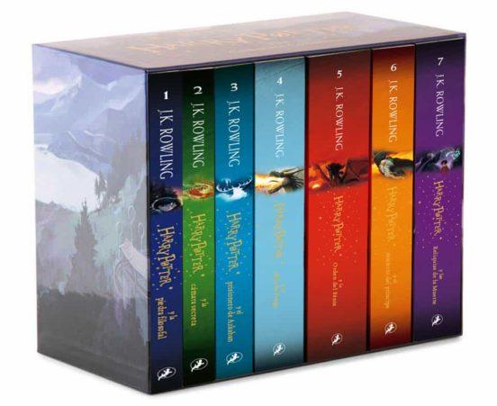 Estuche con la saga completa de Harry Potter libros