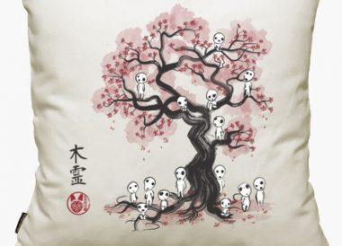 Funda de cojin Forest Spirits Sumi E 50x50 cm