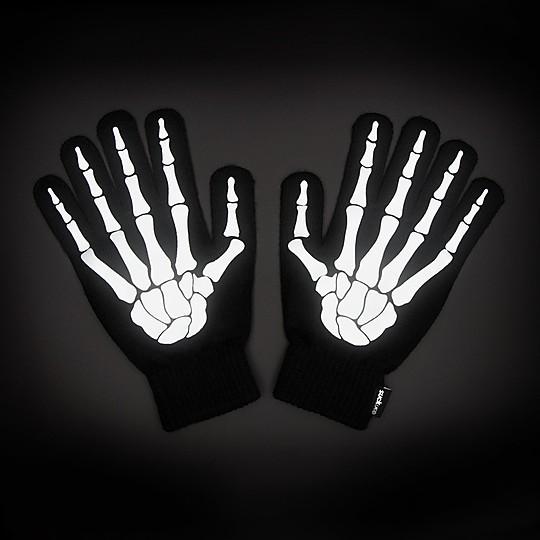 Guantes de ciclismo con huesos reflectantes