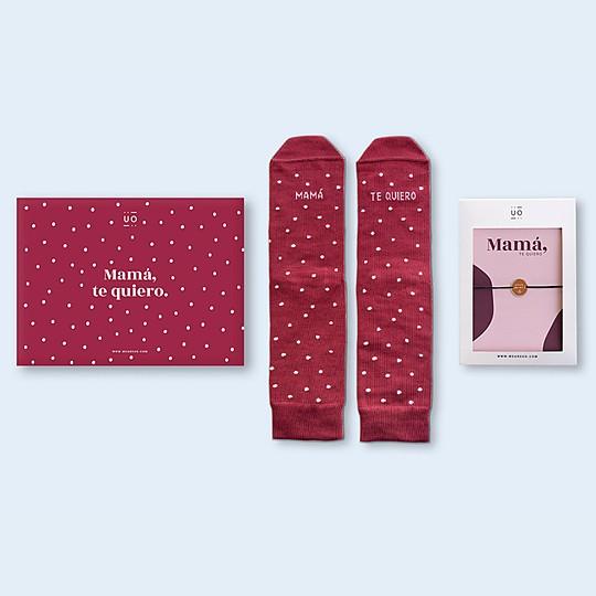 Kit de calcetines con mensaje y pulsera para mamá UO