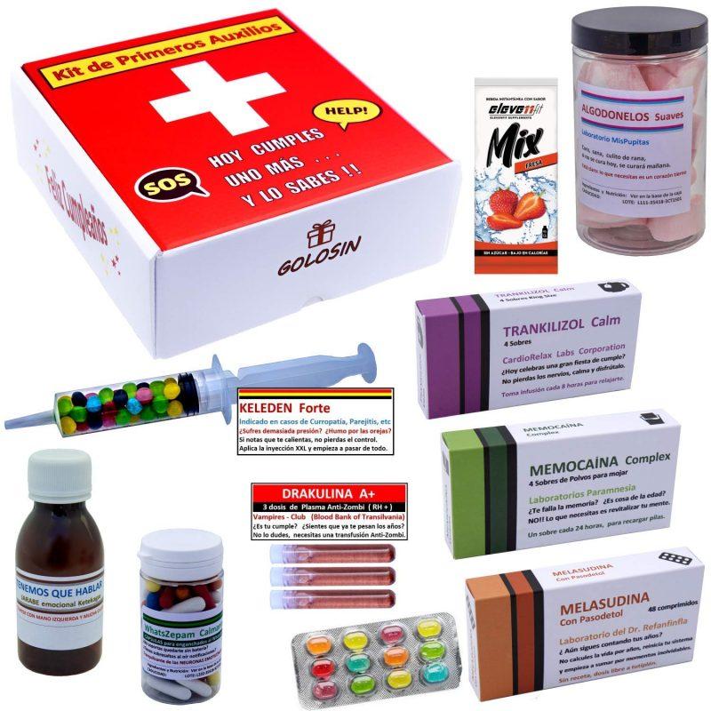 Kit de primeros auxilios Hoy cumples uno más y lo sabes