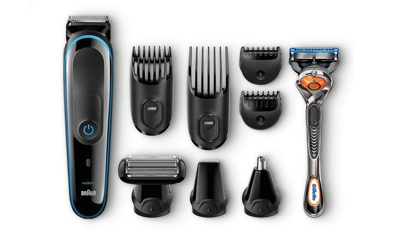 Kit de recortadora Braun 9 en 1 MGK3085 y maquinilla Gillette Fusion ProGlide