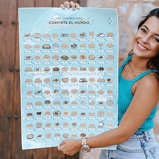 Lamina rascable con 100 sabores para comerte el mundo