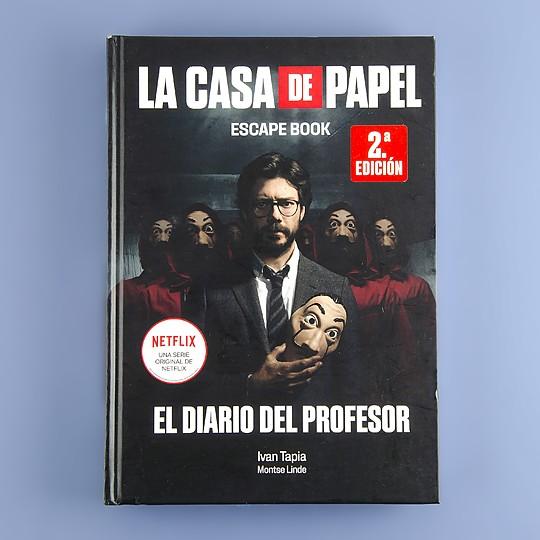 Libro La casa de papel. Escape book El diario del profesor de Iván Tapia y Montse Linde