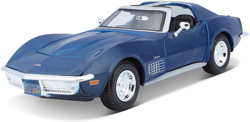 Maisto Chevrolet Corvette 70 azul 1 24