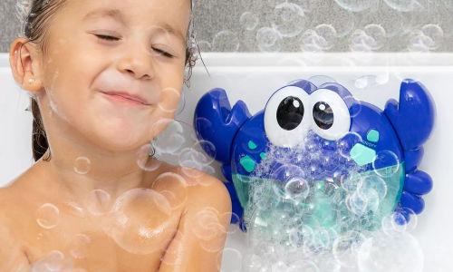 Maquina de burbujas automatica en forma de cangrejo con 12 canciones infantiles