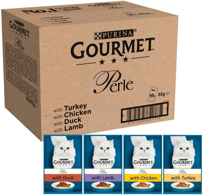 Mini filetes en salsa para gatos Purina Gourmet pack de 96 bolsas