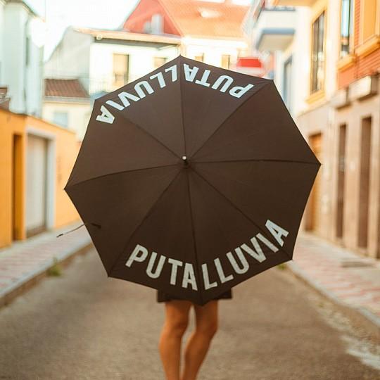 Paraguas con mensaje Pta Lluvia