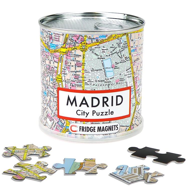 Puzle magnetico del plano de Madrid