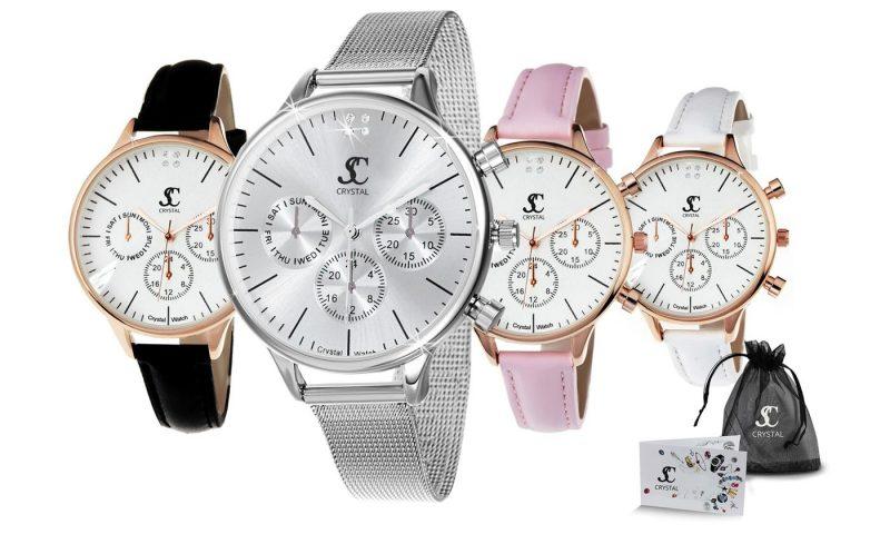 Reloj para mujer con 4 cristales de Swarovski®