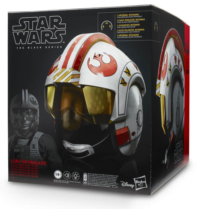 Replica a tamano real del casco de Luke Skywalker de Hasbro