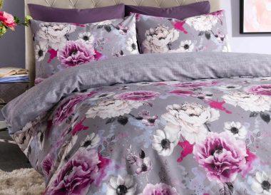Set de funda de edredón floral con 1 o 2 fundas de almohada