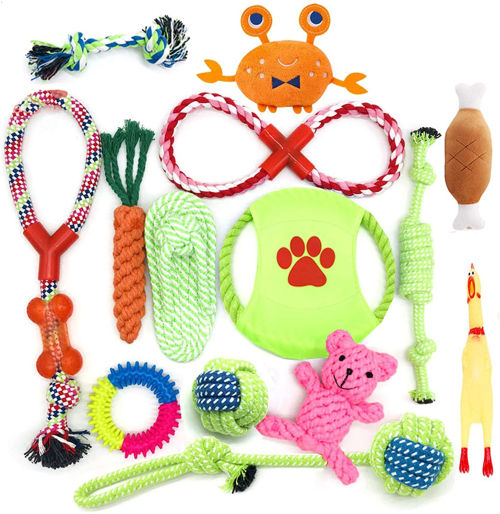 Set de juguetes mordedores para perros Hepaz