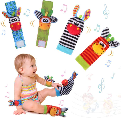 Sonajero calcetines y munequeras para Bebe de Valeny