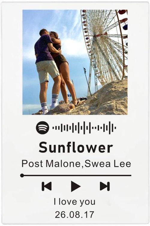 Tablero de musica personalizado con foto y cancion Zouwii