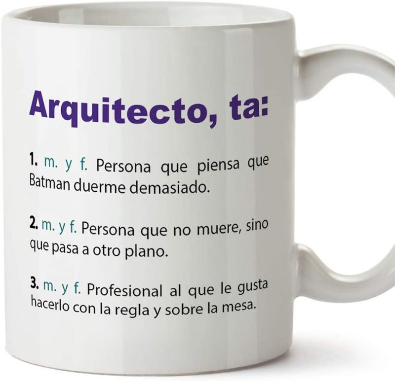 Taza con definiciones divertidas de Arquitecto Mugffins
