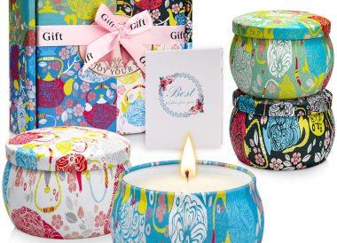 Velas aromaticas en cajita de regalo