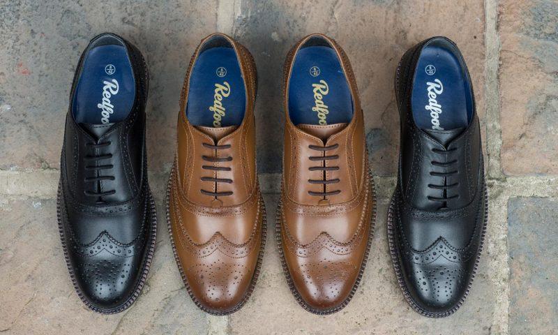 Zapatos de cuero para hombre Oxford Brogue de la marca Redfoot