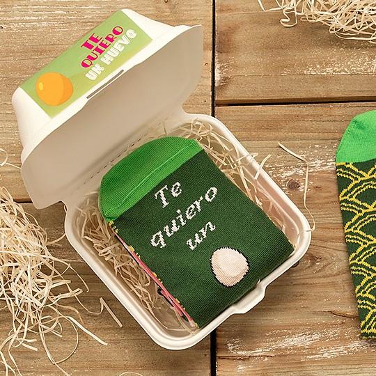 calcetines originales te quiero un huevo