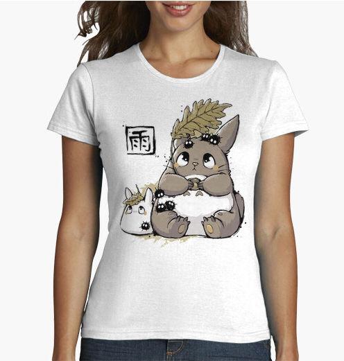 camiseta bajo la lluvia estilo kawaii