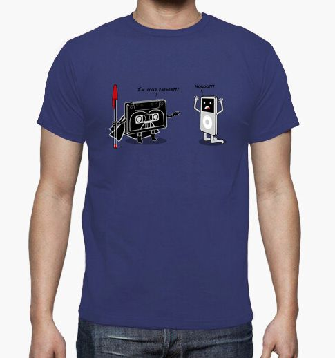 camiseta cassette a ipod im your father