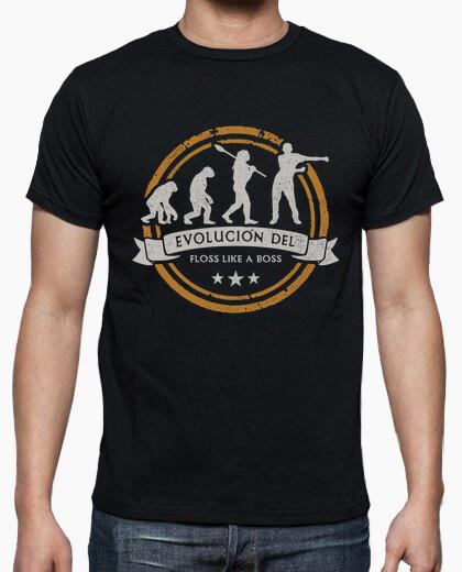 camiseta evolucion del floss like a boss