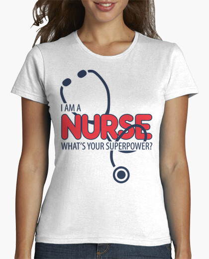 camiseta i am a nurse whats your superpower