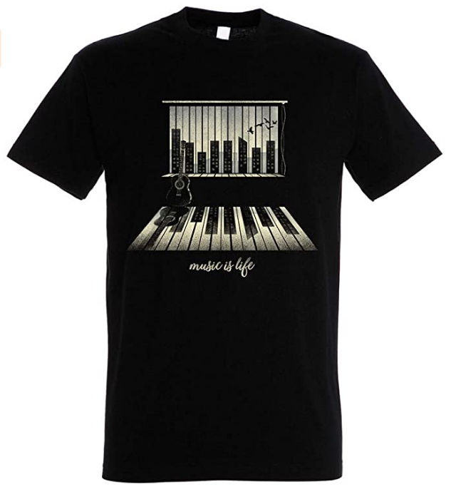 camiseta pampling music is life