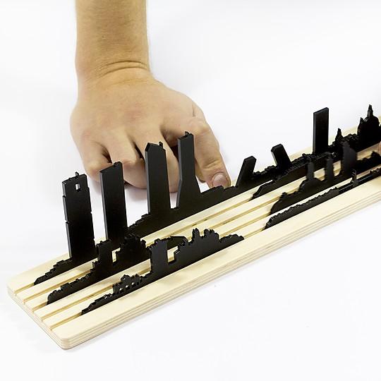 juego para recrear el skyline de madrid