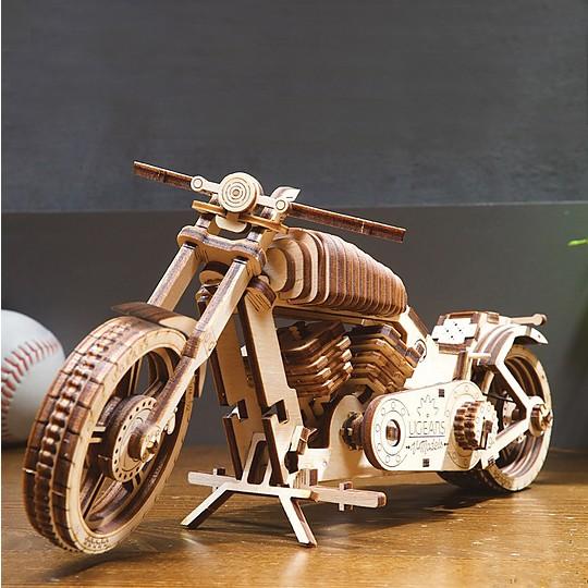 kit para construir una moto mecanica de madera