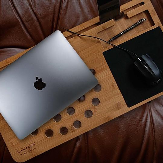 mesa de bambu para portatil