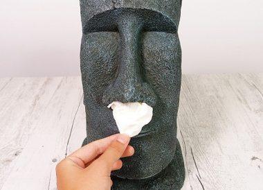 soporte para caja de panuelos moai
