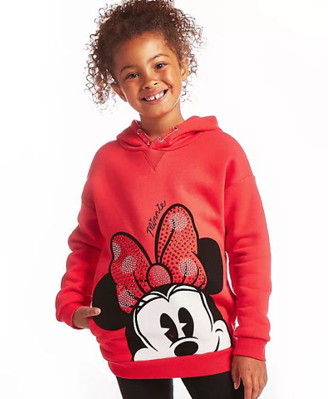 sudadera infantil con capucha minnie mouse