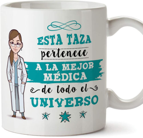taza esta taza pertenece a la mejor medica de todo el universo